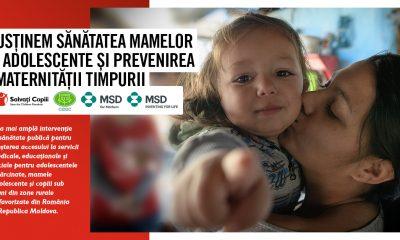 Salvatii Copiii Romania, CIDDC Moldova si MSD Romania au demarat cea mai ampla interventie transfrontaliera pentru sanatatea mamelor adolescente si prevenirea maternitatii timpurii